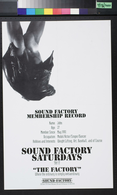 Sound Factory Membership Record